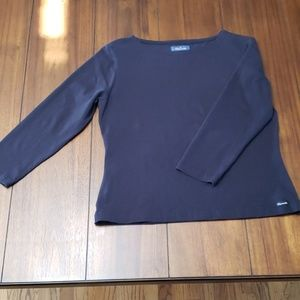 Used Navy Faconnable Long Sleeved Top